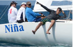 J/22 Jammin Jamaica Nina sailing team