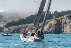 J/111 sailing on San Francisco Bay
