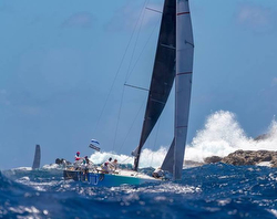 J/122 sailing in Caribbean