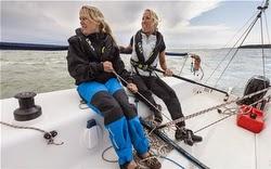 Sarah Ayrton sailing J/80 in Cowes, England