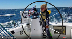 Young J/105 skipper sailing to Block Island