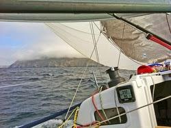J/88 approaching Anacapa Island
