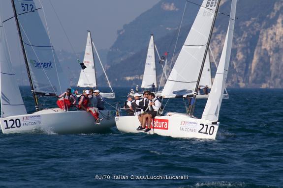 J/70 sailing Lake Garda, Italy