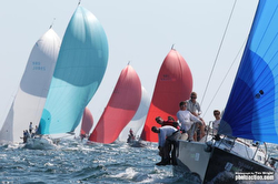 J/Cup regatta- J/109 fleet sailing