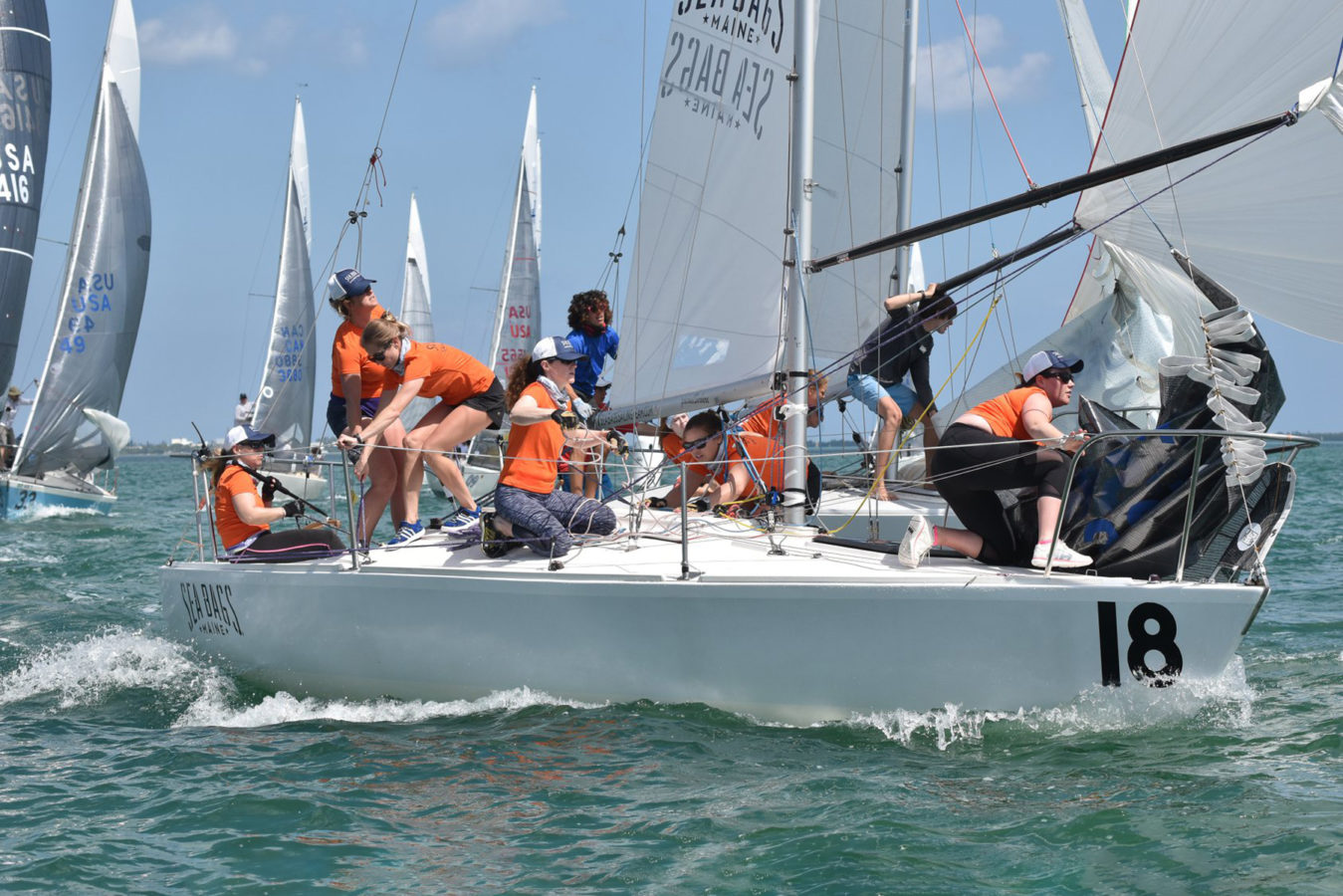 J/24 women's Seabags Sailing Team
