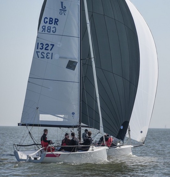J/70s sailing on the Solent