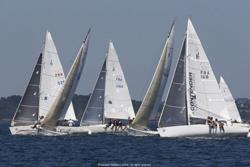J/80s sailing upwind