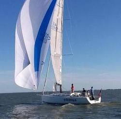 J/133 sailing Chicago Mackinac Race