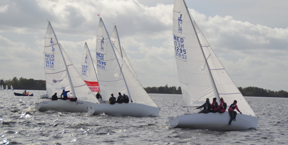 J/22s sailing Cooling Down in Netherlands