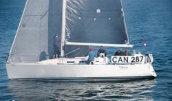 J/109 sailing off Victoria, BC