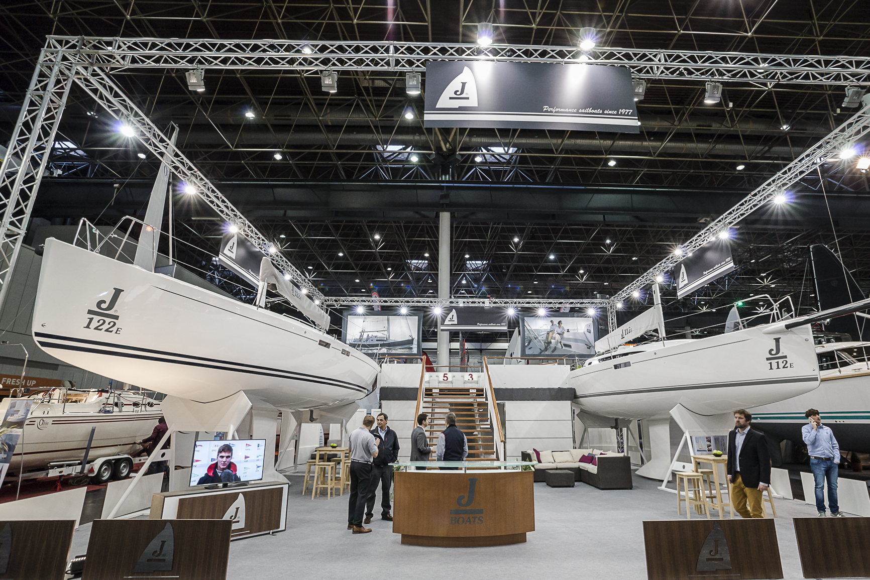 J/112E and J/122E at Dusseldorf Boot Boat show