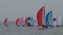 J/70s sailing Cedar Point One Design regatta
