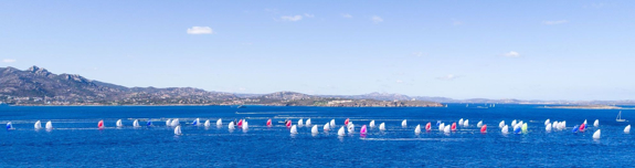 A horizon of 163 J/70s at Worlds in Sardinia
