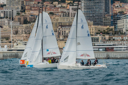 J/70s sailing 2x2 team race Monaco