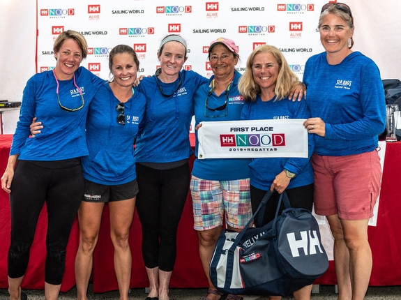 J/24 Women's Sea Bags Sailing Team at Marblehead NOOD