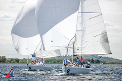 J/80s sailing Cumberland Cup