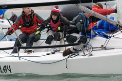 J/70s sailing on Solent- Warsash Spring Series