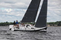J/88 sailing on Long Island Sound