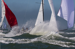 J/70s sailing epic conditions on San Francisco Bay