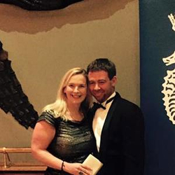 Elin Haf Davies and Chris Frost at RORC Awards dinner