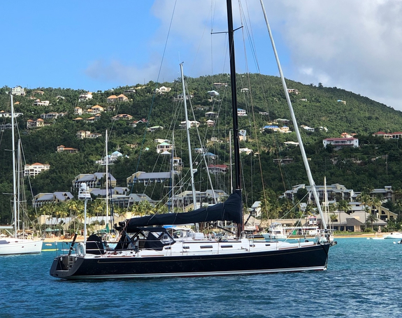 J/160 Avatar- sailing off St Johns, US Virgin Islands