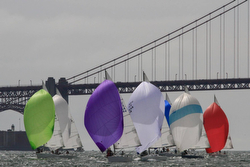 J/105s sailing on San Francisco Bay