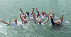J/111 Jelvis crew- victory swim