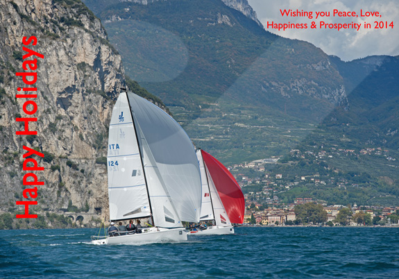 J/70 sailing on Lago di Garda, Italy