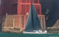 J/111 rounding Golden Gate Bridge- San Francisco, CA
