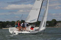 J/70 Women's Worlds sailors