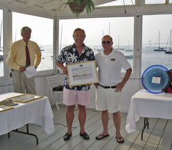 "Tim ""Woody"" Woodhouse at Ida Lewis YC trophy awards"