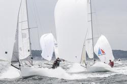 J/80s sailing Worlds off Travemunde, Germany