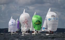 J/24s sailing at Europeans in Sweden