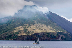 Sicily volcano- during Rolex Middle Sea Race
