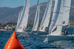 J/70s sailing Fiesta Cup- Santa Barbara, CA