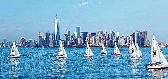 J/24 Lady Liberty Cup regatta off New York, NY