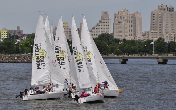 J/24s sailing off Manhattan YC