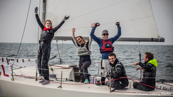 J/80 Student Yachting World Cup sailors