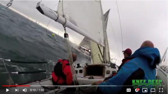 J/34 IOR Knee Deep sailing off Cleveland, OH