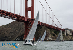 J/111 spinnaker cup race leader
