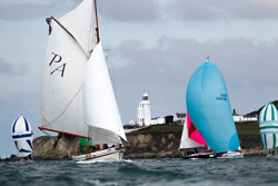 Classics and J/109s- perfect sailing juxtaposition of Round Island