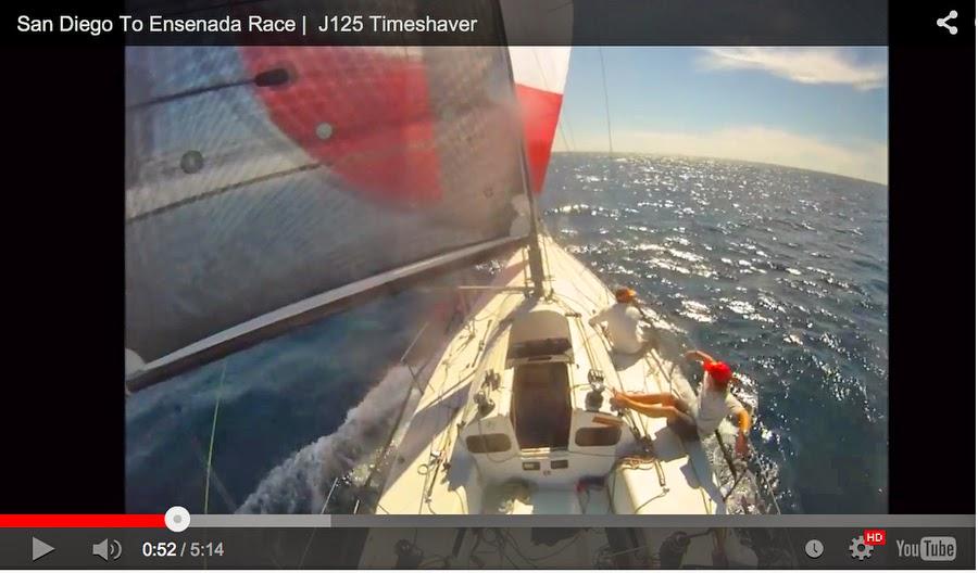 J/125 Ensenada Race sailing video