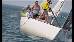 Women's J/24 sailing team