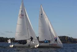 J/80s sailing in Finland Sailing League- off Helsinki