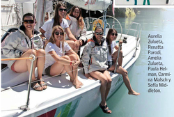 J/105 women's sailing team in Chile