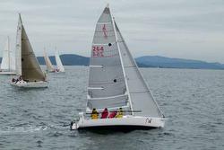 J/80 sailing Van Isle 360 race