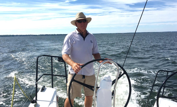 Paul Heys on new J/121 off Bristol, RI