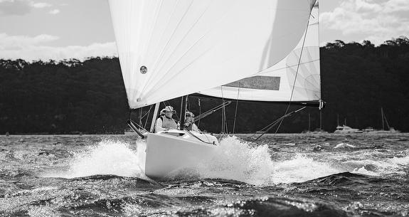 J/70 sailing fast- Sydney Harbour, Australia