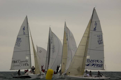 J/80 sailboats- sailing off Spain
