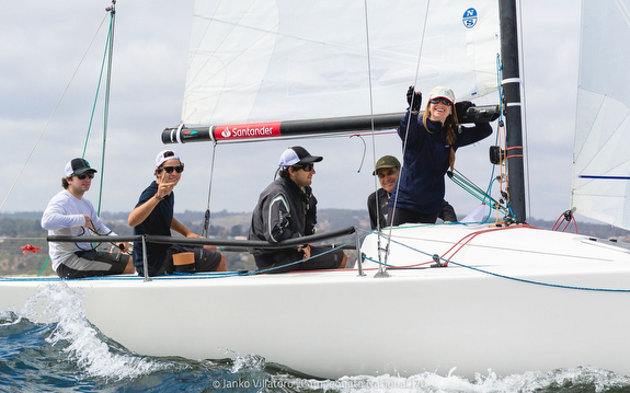 J/70 Chile team sailing Nationals